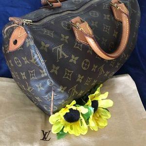 1989 Vintage Speedy 30 Monogram Satchel Handbag